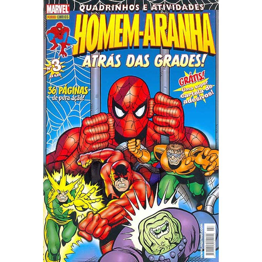 Gibi Usado Quadrinhos E Atividades Homem Aranha 03 Panini Loja