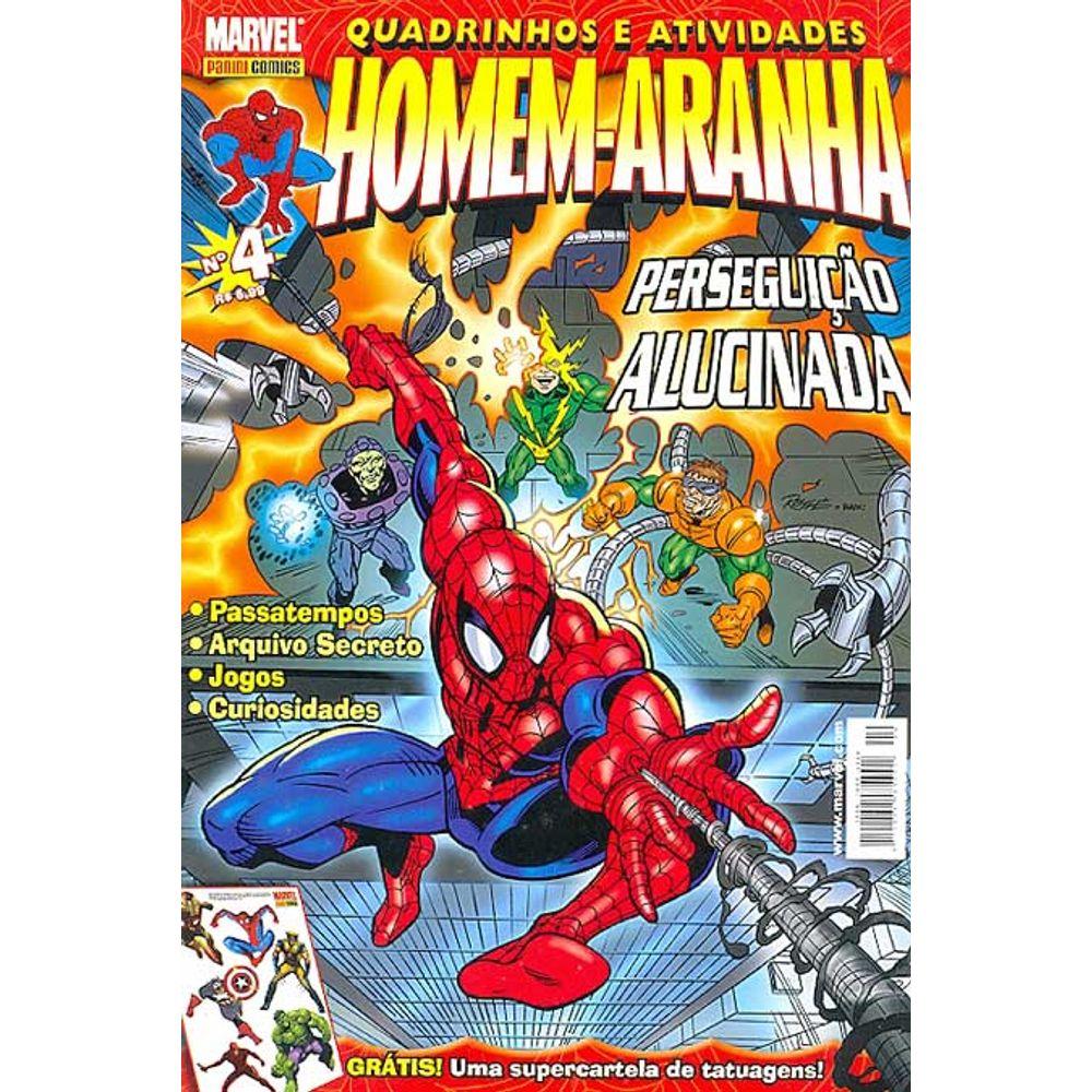 Gibi Usado Quadrinhos E Atividades Homem Aranha 04 Panini Loja