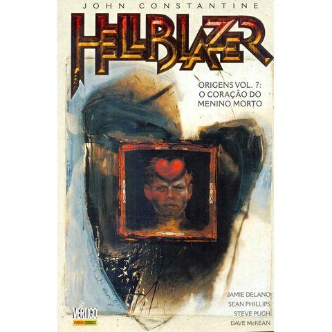 aa0f6c8a920 Gibi Usado John Constantine Hellblazer Origens Volume 7 O Coraçao do Menino  Morto Panini Loja Sebo Quadrinhos Antigos Raros Compra Venda - Rika