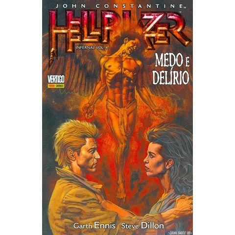 2144a0a12e2 Gibi Usado John Constantine Hellblazer Infernal Volume 4 Medo e Delírio  Panini Loja Sebo Quadrinhos Antigos Raros Compra Venda - Rika