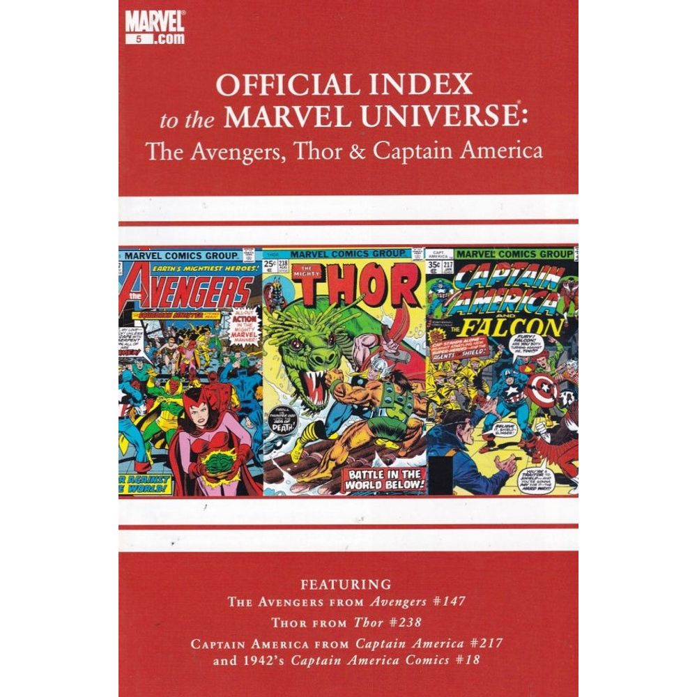 Official Index to the Marvel Universe - Avengers, Thor and Captain